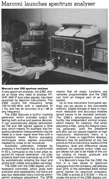 Marconi Analyzer - IEEE Comms and Power May 1985