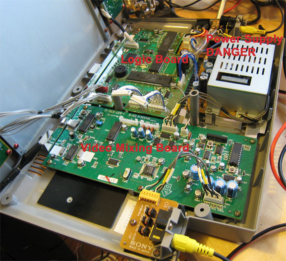 Main boards on Sony XV-T33F