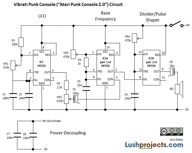 lushprojects com vibrati punk console use and circuit vpc schematic